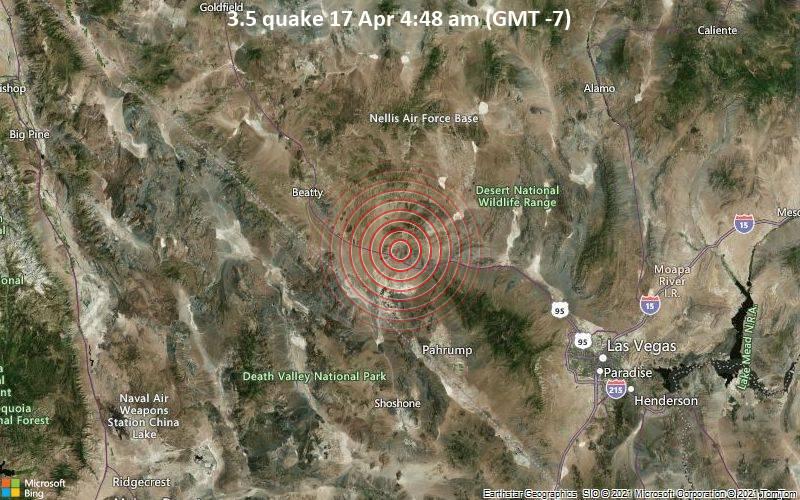 3.5 Terremoto 17 de abril 4:48 AM (GMT -7)