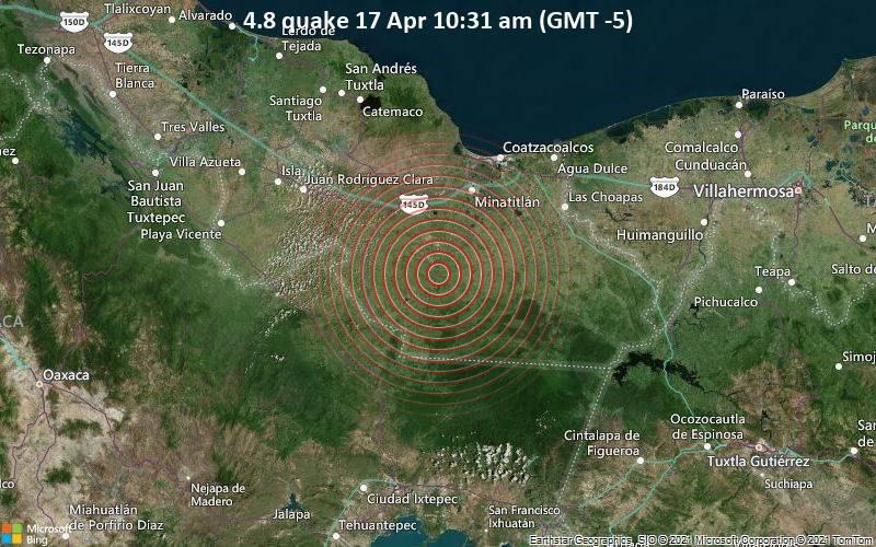 4.8 quake 17 Apr 10:31 am (GMT -5)