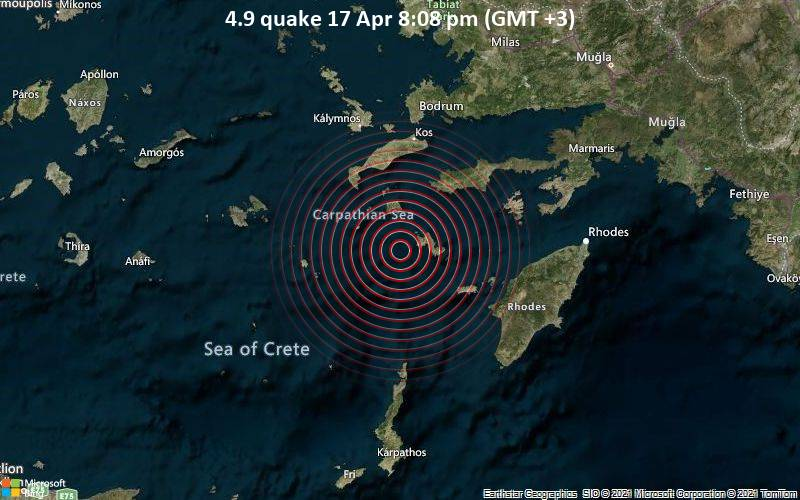 4.9 quake 17 Apr 8:08 pm (GMT +3)