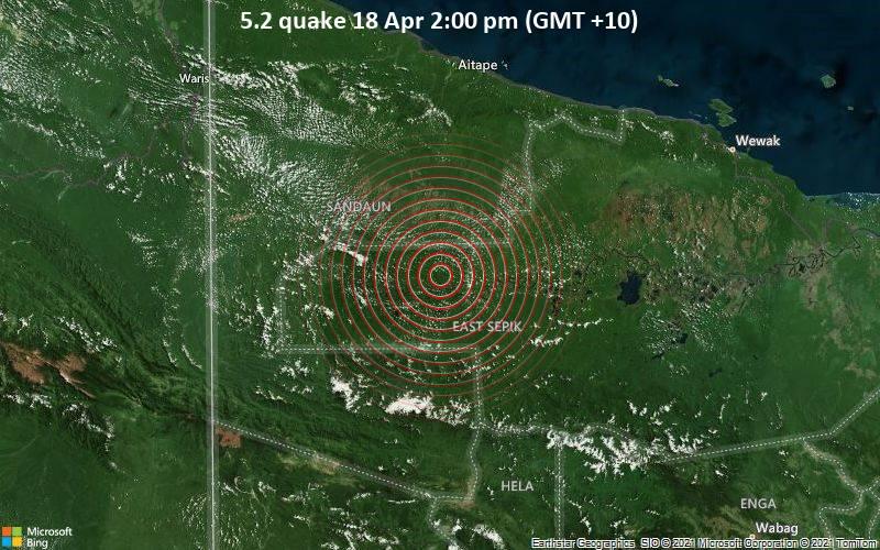 5.2 Terremoto 18 de abril 2:00 pm (GMT +10)