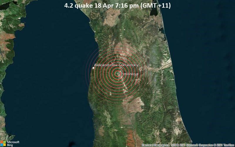 4.2 Gempa bumi 18 Apr 19:16 (GMT +11)