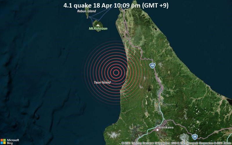 4.1 Gempa 18 Apr 10:09 malam (GMT +9)