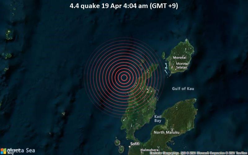 4.4 quake 19 Apr 4:04 am (GMT +9)