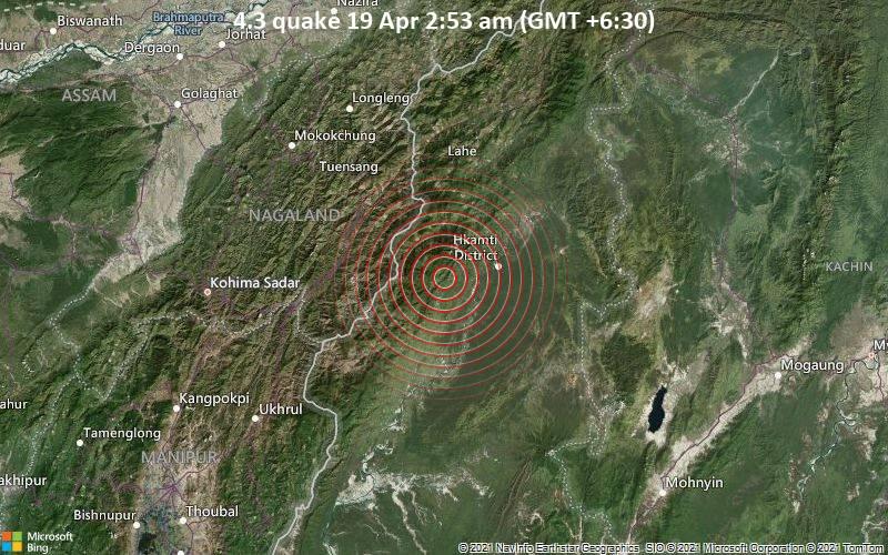 4.3 quake 19 Apr 2:53 am (GMT +6:30)