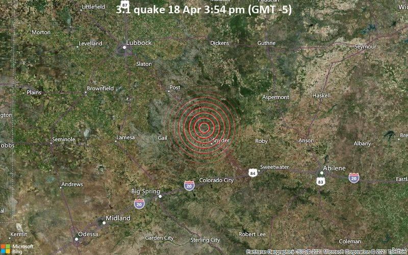 3.1 quake 18 Apr 3:54 pm (GMT -5)
