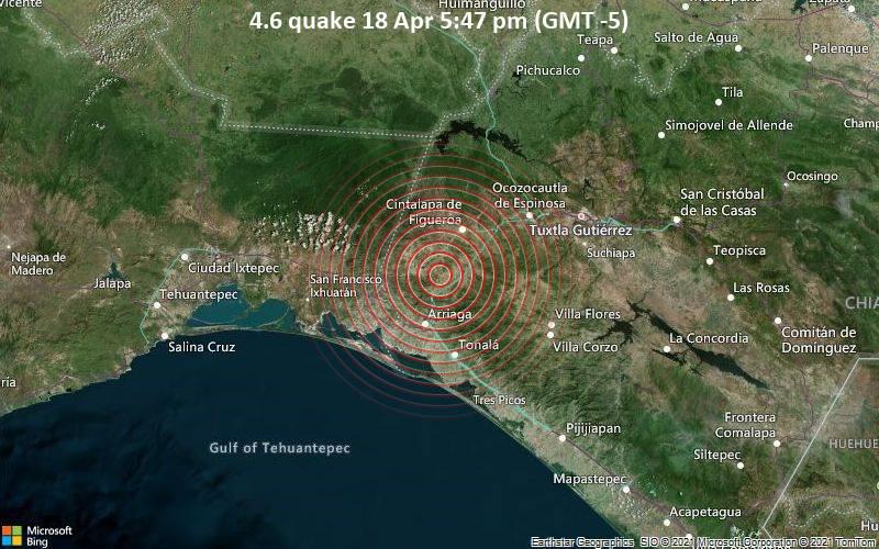 4.6 quake 18 Apr 5:47 pm (GMT -5)