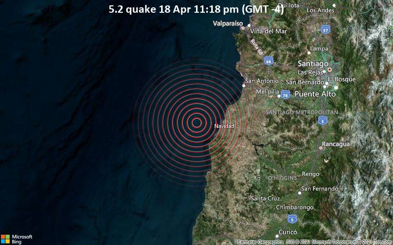 5.2 quake 18 Apr 11:18 pm (GMT -4)