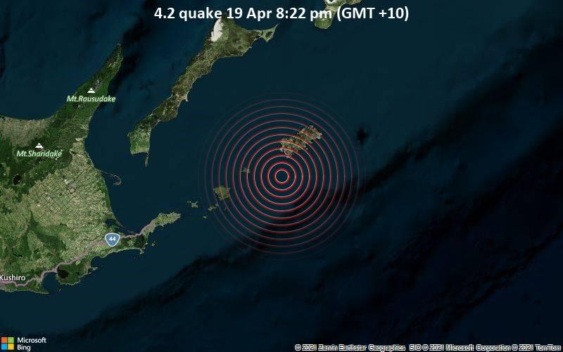 4.2 quake 19 Apr 8:22 pm (GMT +10)
