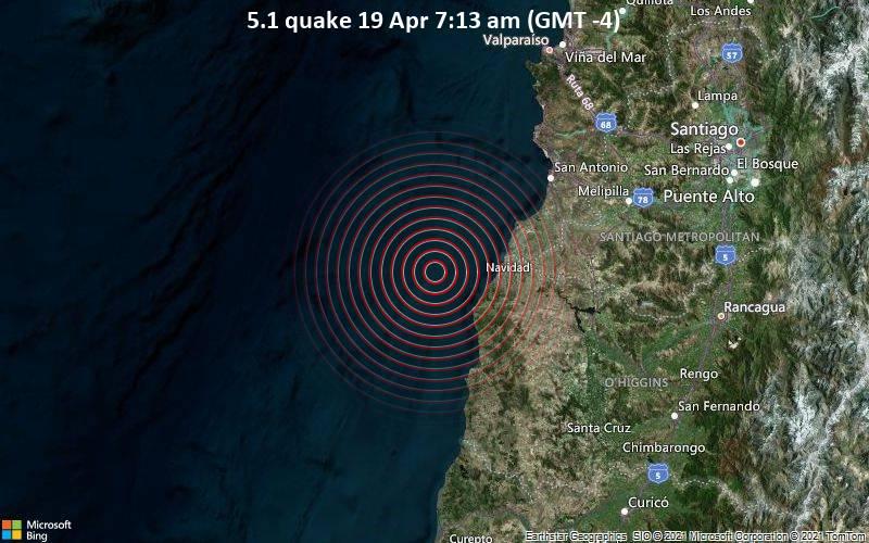 5.1 quake 19 Apr 7:13 am (GMT -4)