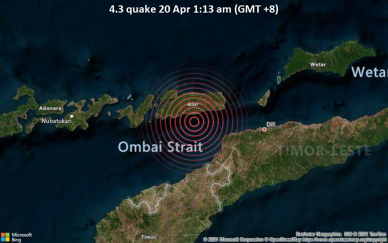 4.3 quake 20 Apr 1:13 am (GMT +8)