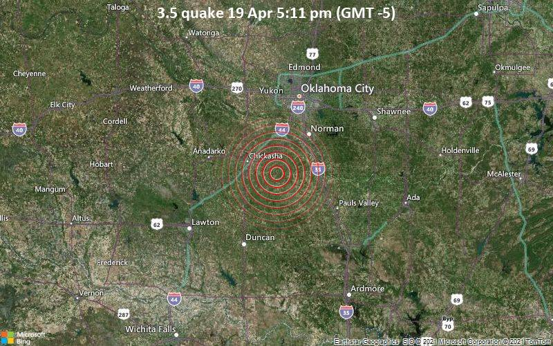 3.5 quake 19 Apr 5:11 pm (GMT -5)