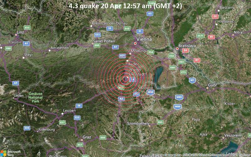 4.3 quake 20 Apr 12:57 am (GMT +2)