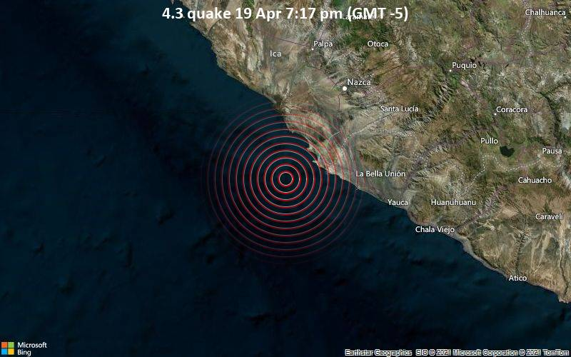 4.3 quake 19 Apr 7:17 pm (GMT -5)