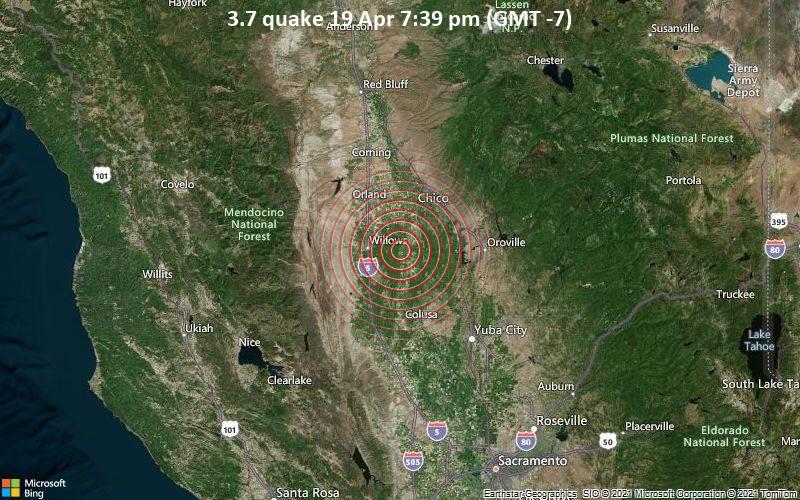 3.7 quake 19 Apr 7:39 pm (GMT -7)