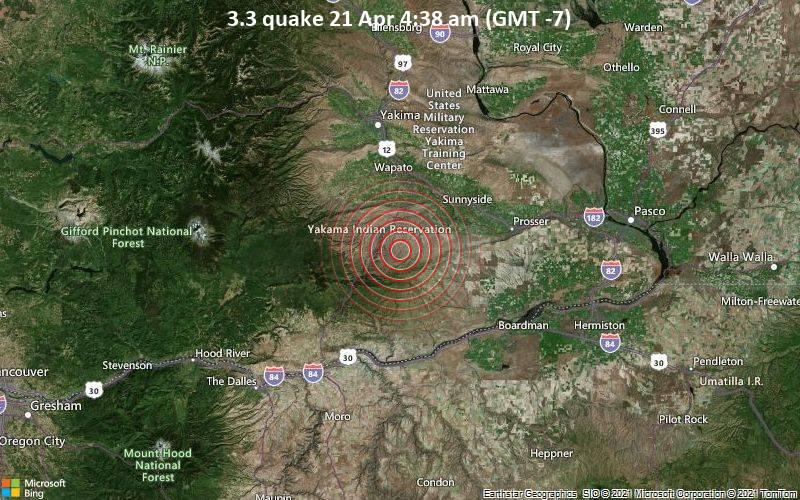 3,3 gempa bumi 21 April 4:38 pagi (GMT -7)