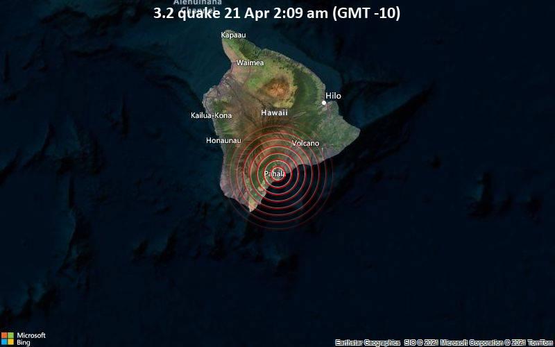 3.2 gempa bumi 21 April 2:09 (GMT -10)