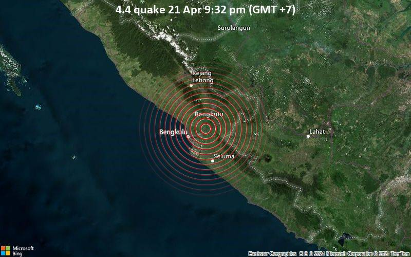 4.4 gempa bumi 21 April 21:32 (GMT +7)