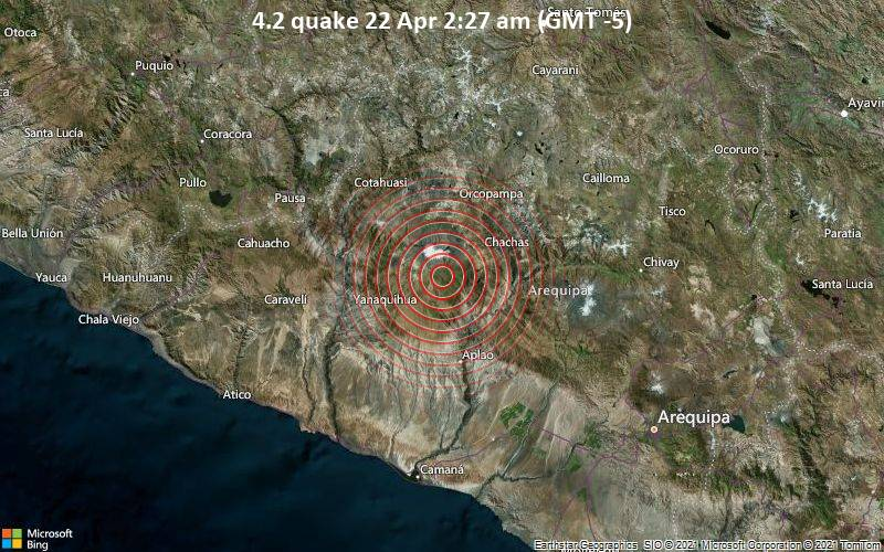 4.2 quake 22 Apr 2:27 am (GMT -5)