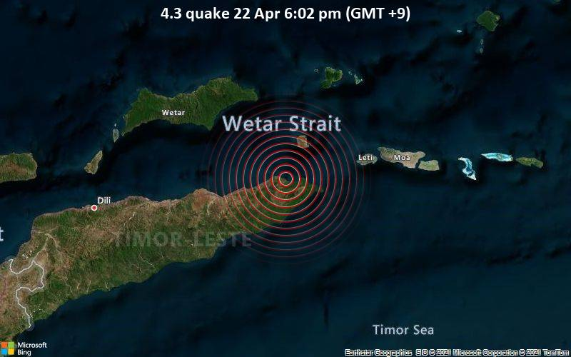 4.3 quake 22 Apr 6:02 pm (GMT +9)