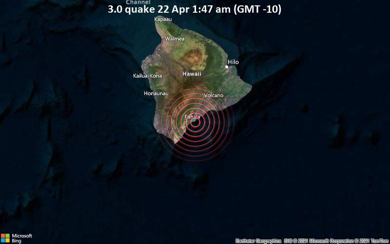 3.0 quake 22 Apr 1:47 am (GMT -10)
