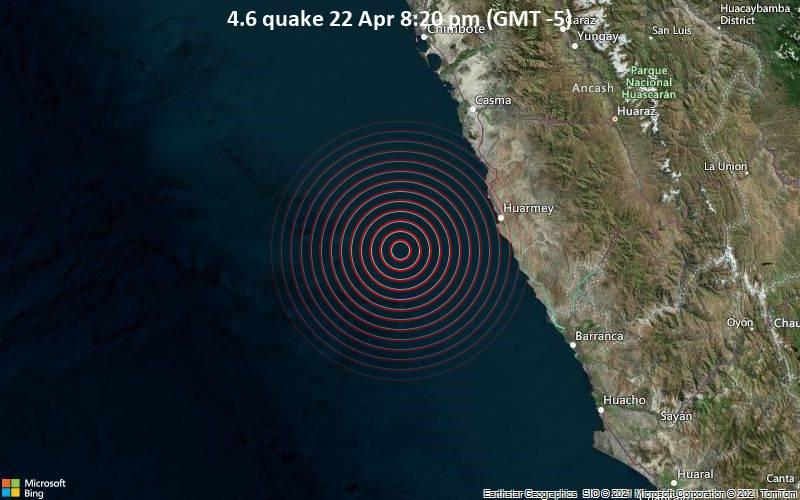 4.6 quake 22 Apr 8:20 pm (GMT -5)
