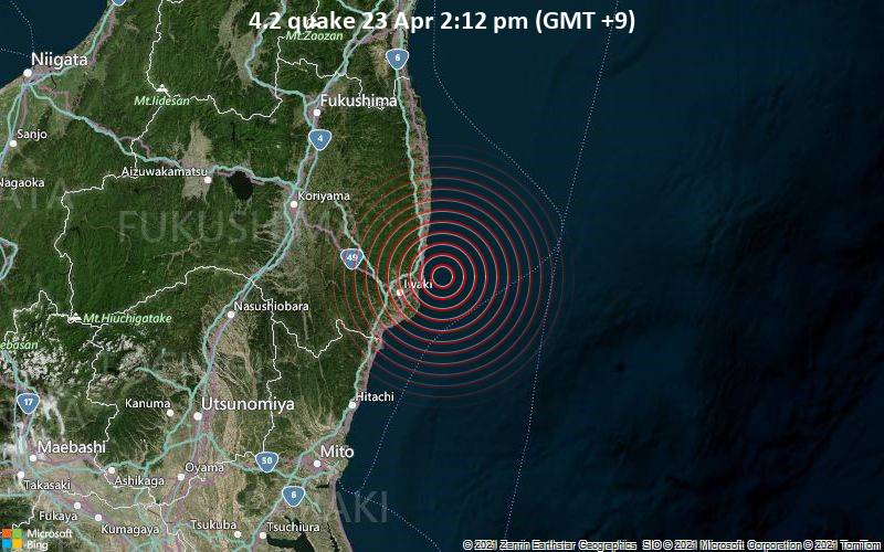 4.2 quake 23 Apr 2:12 pm (GMT +9)