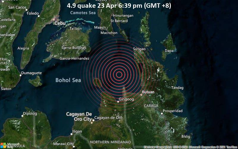 4.9 quake 23 Apr 6:39 pm (GMT +8)