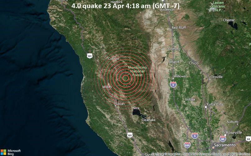 4.0 quake 23 Apr 4:18 am (GMT -7)
