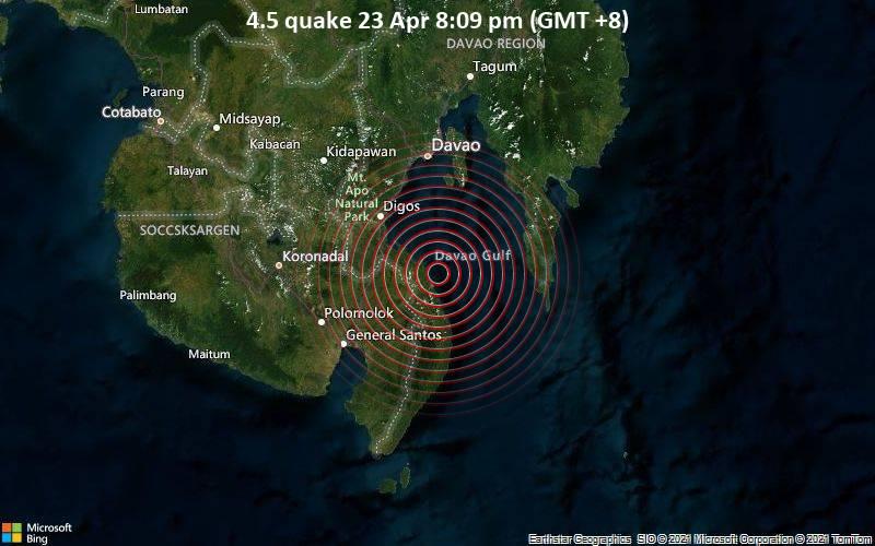 4.5 quake 23 Apr 8:09 pm (GMT +8)