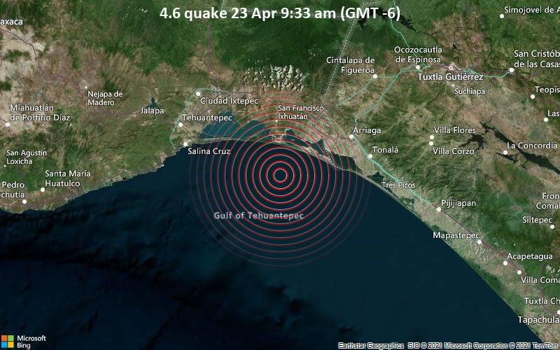 4.6 quake 23 Apr 9:33 am (GMT -6)