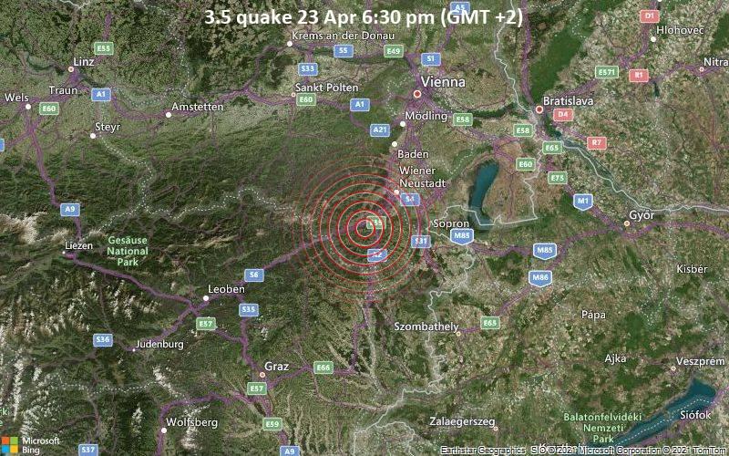 3.5 quake 23 Apr 6:30 pm (GMT +2)