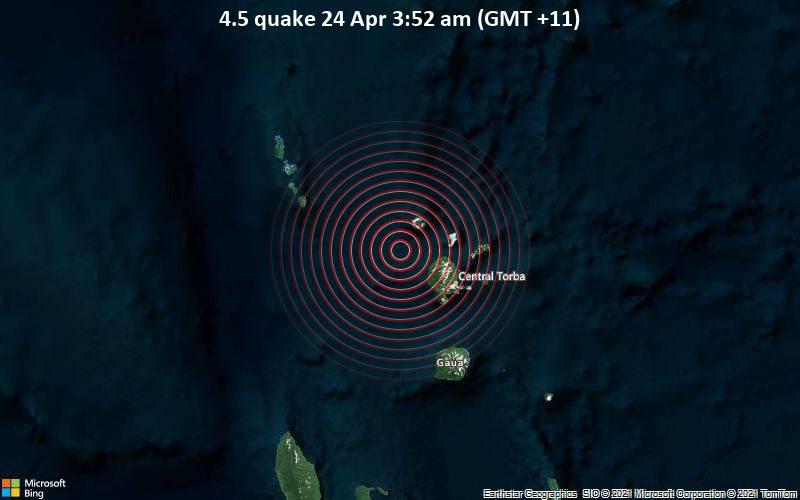 4.5 quake 24 Apr 3:52 am (GMT +11)