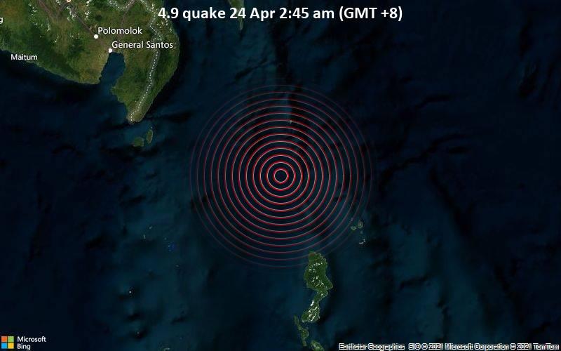 4.9 quake 24 Apr 2:45 am (GMT +8)