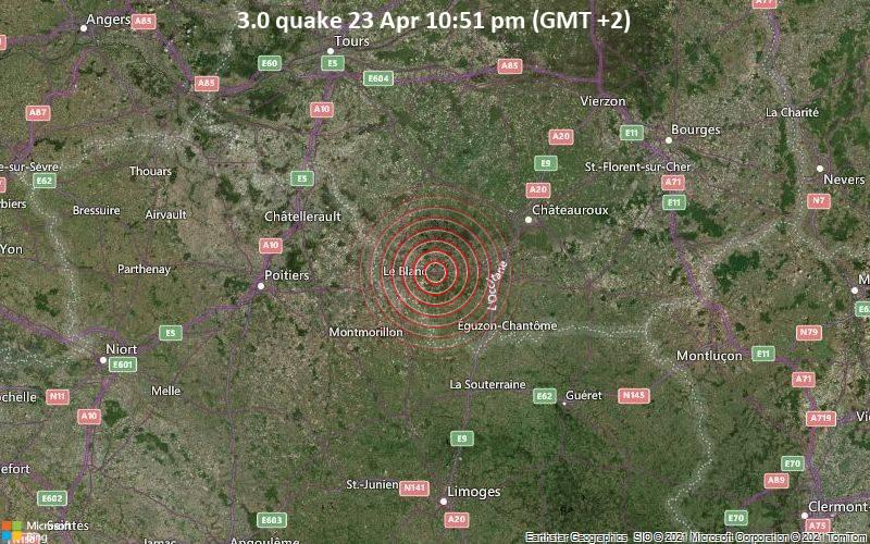3.0 quake 23 Apr 10:51 pm (GMT +2)