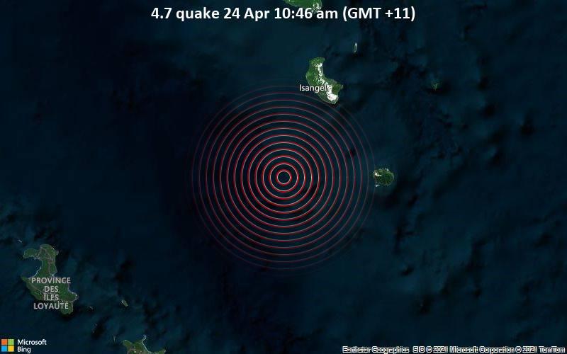 4.7 quake 24 Apr 10:46 am (GMT +11)