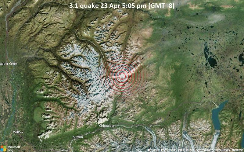 3.1 quake 23 Apr 5:05 pm (GMT -8)