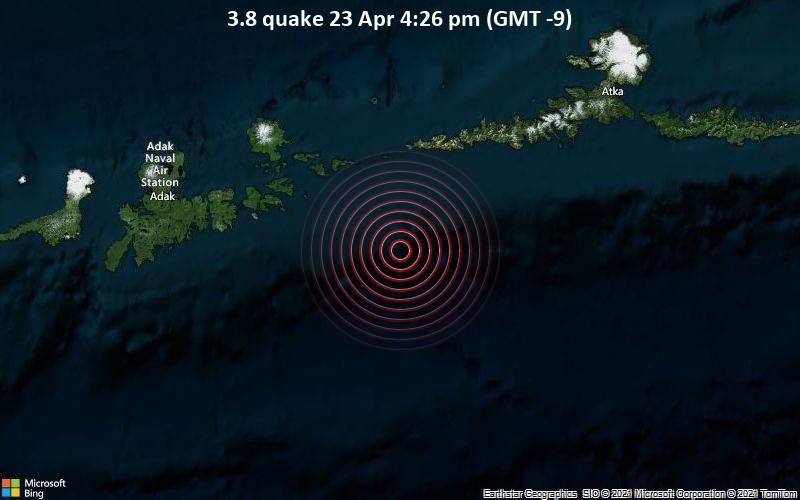 3.8 quake 23 Apr 4:26 pm (GMT -9)