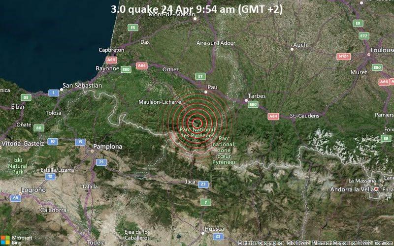 3.0 quake 24 Apr 9:54 am (GMT +2)