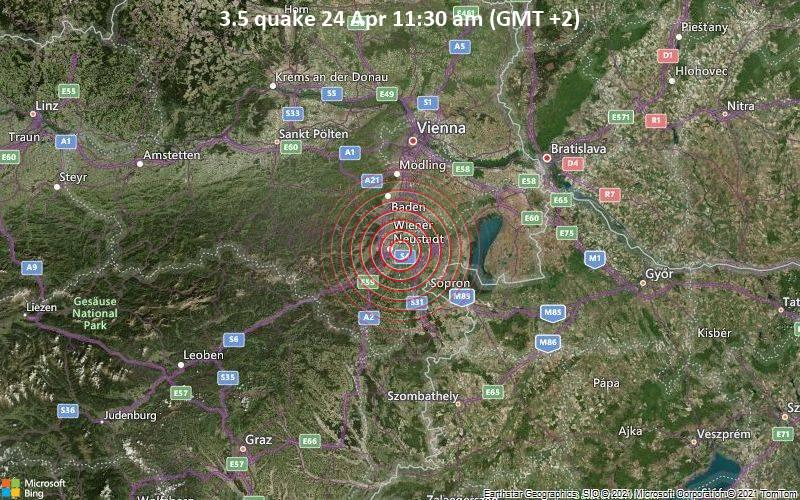 3.5 quake 24 Apr 11:30 am (GMT +2)