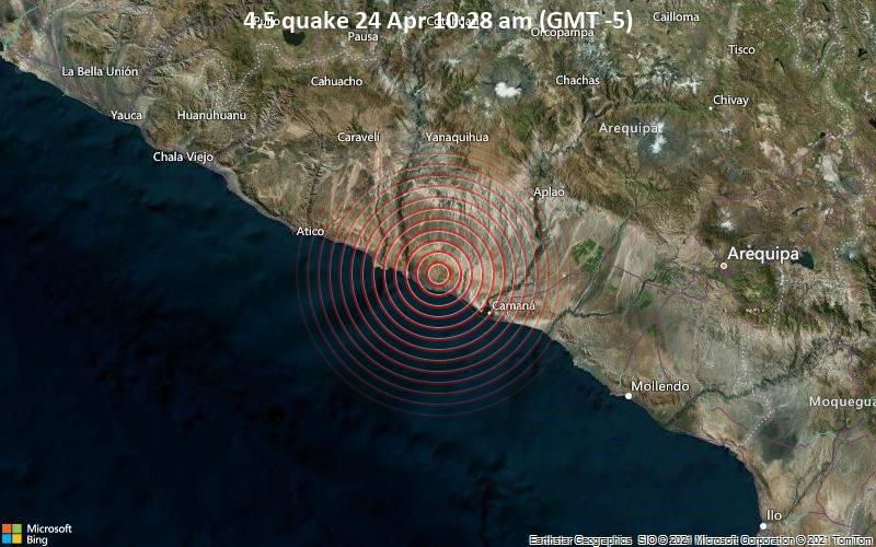 4.5 quake 24 Apr 10:28 am (GMT -5)
