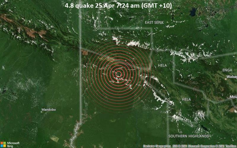 4.8 quake 25 Apr 7:24 am (GMT +10)