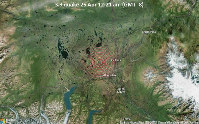3.3 quake 25 Apr 12:21 am (GMT -8)