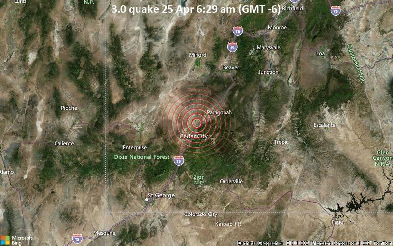 3.0 quake 25 Apr 6:29 am (GMT -6)