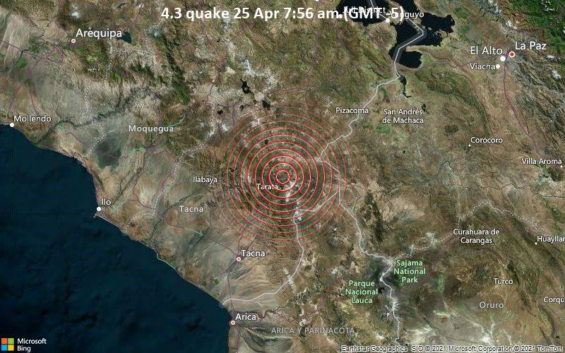 4.3 quake 25 Apr 7:56 am (GMT -5)