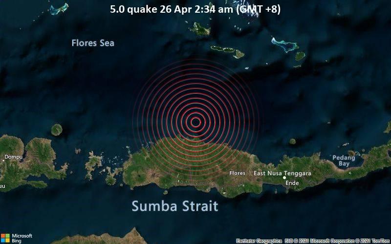 5.0 quake 26 Apr 2:34 am (GMT +8)