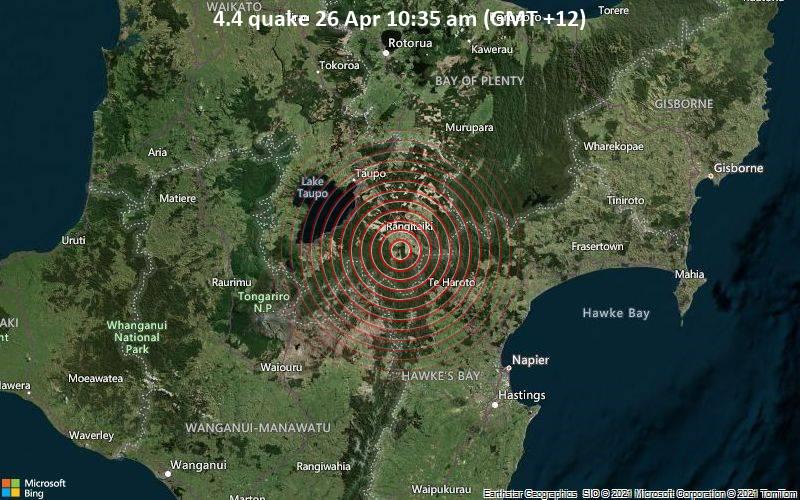 4.4 quake 26 Apr 10:35 am (GMT +12)