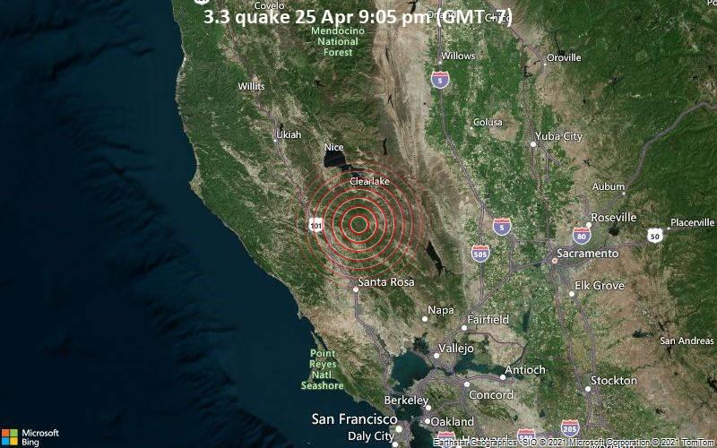 3.3 quake 25 Apr 9:05 pm (GMT -7)