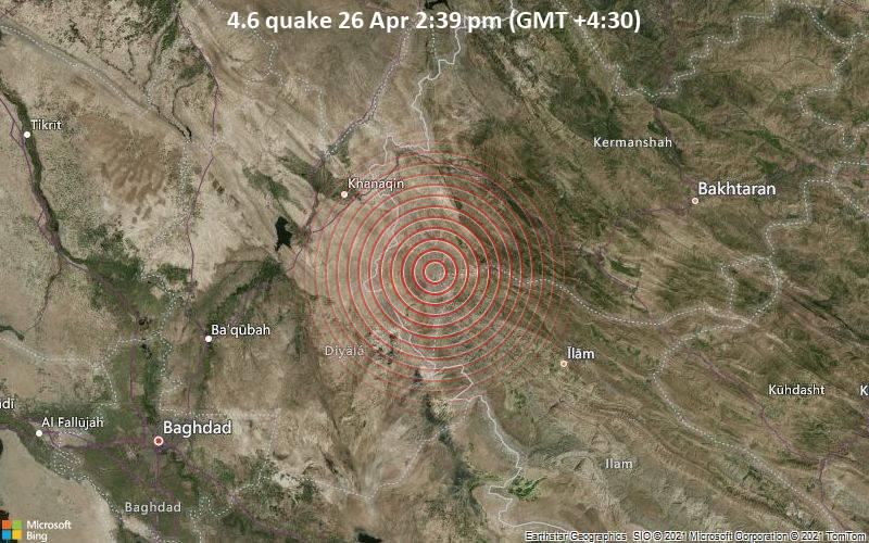 4.6 quake 26 Apr 2:39 pm (GMT +4:30)