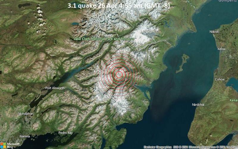 3.1 quake 26 Apr 4:55 am (GMT -8)