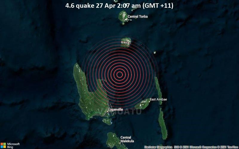 4.6 quake 27 Apr 2:07 am (GMT +11)